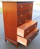 Tall Mahogany Chest of Drawers by Stag - SOLD